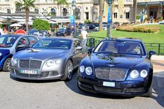 Bentley Continental GTC and Bentley Continental Flying Spur Royalty Free Stock Photography