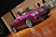 Bentley Continental GTC Series 51. Pink Bentley cabriolet at Geneva Motorshow 2010 royalty free stock photo