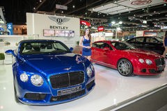 Bentley Continental GTC V8 on display Stock Photography
