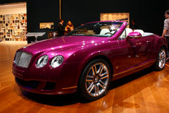 Bentley Continental at Motor Show 2010, Geneva Stock Photos
