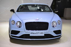 Bentley Continental New GTV8S sports car Royalty Free Stock Photos