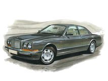 Bentley Continental R ilustración del vector