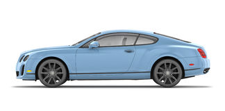 Bentley Continental SS (2010). Side 3D render of Bentley Continental SuperSport on white background Stock Image