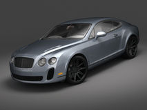 Bentley Continental SS (2010). 3D render of Bentley Continental SuperSport on black background Royalty Free Stock Images