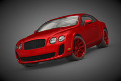 Bentley Continental SS (2010). 3D render of Bentley Continental SuperSport on dark background Royalty Free Stock Photo
