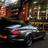 Bentley Continental SS in London Lizenzfreies Stockfoto