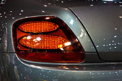 BENTLEY Continental Super Sport GT's tail light. BANGKOK, THAILAND-JUNE 23: A BENTLEY Continental Super Sport GT's tail light on display at Bangkok international Stock Image