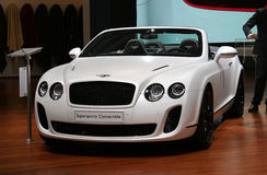 Bentley Convertibele Supersports Stock Afbeelding