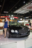 Bentley Flying Spur on display Royalty Free Stock Photos