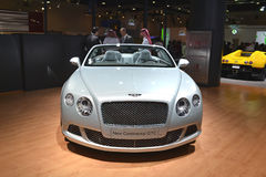 BENTLEY - GTC. BENTLEY New Continental GTC at Qatar Motor Show Second Exhibition on the 25th of January 2012 royalty free stock image