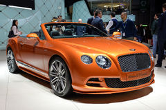 Bentley GTC motor car. Pictured at the Geneva motor show in Switzerland, 2014 Stock Image