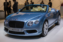 Bentley GTCV8  car on display at the LA Auto Show. Stock Photo