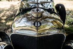 Bentley horisontalbevingad B maskot Royaltyfria Bilder
