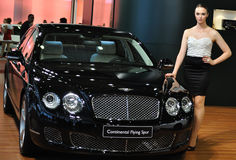 Bentley kontinentaler Flugwesen-Sporn lizenzfreie stockbilder