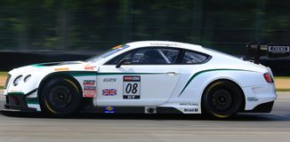 Bentley Kontynentalny samochód wyścigowy Fotografia Royalty Free