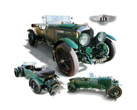 Bentley LeMans 4.5 Liter Racer- isolated Royalty Free Stock Image