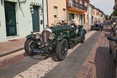 Bentley 3 litre 1923in Mille Miglia 2017 Stock Image
