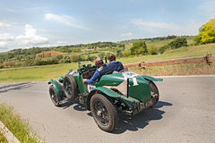 Bentley 4.5 Litre (1929) runs in Mille Miglia 2014 Royalty Free Stock Photos