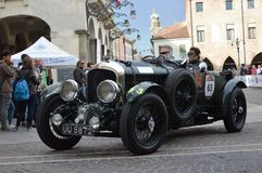 Bentley 4.5 Litre SC, 1930 on 1000 miles race in italy stock photography