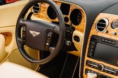 Bentley Luksusowy Samochodowy wnętrze Zdjęcia Stock