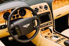 Bentley Luksusowy Samochodowy wnętrze Zdjęcia Royalty Free