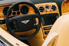 Bentley Luksusowy Samochodowy wnętrze Obraz Stock