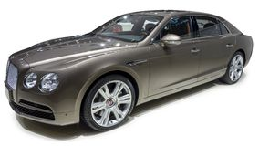 Bentley Luxury sedan. Isolate on white Stock Photos