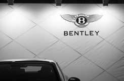 Bentley lyxig billogo på Belgrade bilshow Royaltyfria Foton