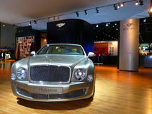 Bentley Mulsanne. DUBAI, UAE - DECEMBER 19: Bentley Mulsanne on display during Dubai Motor Show 2009 at Dubai Int'l Convention and Exhibition Centre December 19 Royalty Free Stock Photo