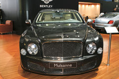 Bentley Mulsanne. At the Moscow International Automobile Salon (MIAS-2010) August 25 - September 5 Royalty Free Stock Photos