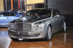 Bentley Mulsanne. British famous brand,Bentley,Mulisanne luxury car, in its exhibition hall,in 2010 international Auto-show GuangZhou. it is from 20/12/2010 to Royalty Free Stock Image