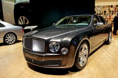 Bentley Mulsanne 2014. Bentley Mulsanne at Geneva motor show 2013 Royalty Free Stock Images