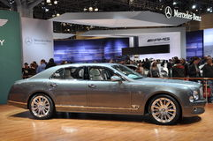 Bentley Mulsanne. NEW YORK - APRIL 11: Bentley Mulsanne at the 2012 New York International Auto Show running from April 6-15, 2012 in New York, NY Stock Images