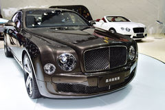 The Bentley Mulsanne car Royalty Free Stock Photo