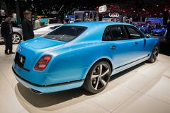 2018 Bentley Mulsanne Design Series luxury car Royalty Free Stock Photos