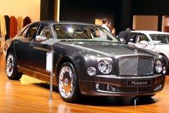 Bentley Mulsanne en la demostración de motor 2010, Ginebra Foto de archivo libre de regalías
