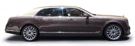 Bentley Mulsanne EWB limousine. Side of Bentley Mulsanne EWB limousine with shadow isolated on white Stock Image