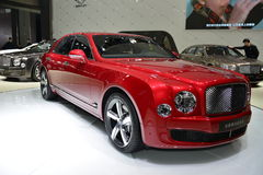 Bentley Mulsanne Exalted Version supercar Stock Photos