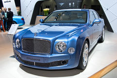 Bentley Mulsanne. MOSCOW-SEPTEMBER 2: Bentley Mulsanne at the Moscow International Automobile Salon on September 2, 2014 in Moscow, Russia Royalty Free Stock Photos