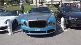 Bentley Mulsanne Parked At Monte-Carlo-Casinovierkant stock videobeelden