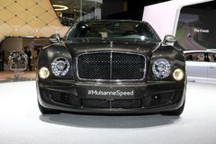 The Bentley Mulsanne Speed. Displayed at the 2014 Paris Motor Show Stock Photo