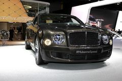 The Bentley Mulsanne Speed. Displayed at the 2014 Paris Motor Show Royalty Free Stock Photo