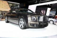 The Bentley Mulsanne Speed. Displayed at the 2014 Paris Motor Show Stock Photos