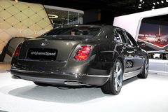 The Bentley Mulsanne Speed. Displayed at the 2014 Paris Motor Show Royalty Free Stock Image