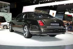 The Bentley Mulsanne Speed. Displayed at the 2014 Paris Motor Show Stock Photography