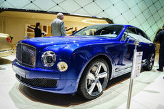 Bentley Mulsanne Speed, Motor Show Geneve 2015. Stock Photography