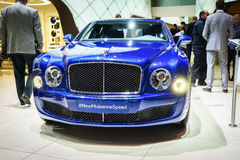 Bentley Mulsanne Speed, Motor Show Geneve 2015. Royalty Free Stock Photo