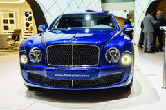 Bentley Mulsanne Speed, Motor Show Geneve 2015. Stock Photos