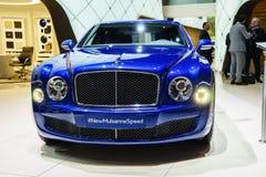 Bentley Mulsanne Speed, Motor Show Geneve 2015. Stock Photos