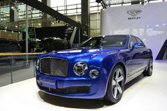 Bentley Mulsanne Speed supercar. Guangzhou, China - November 21, 2015: Bentley Mulsanne Speed supercar car was exhibited in the 13th China (Guangzhou) Stock Photo